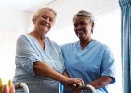 senior women smiling